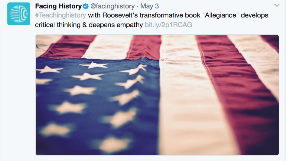 Teaching historical fiction: Allegiance by Kermit Roosevelt